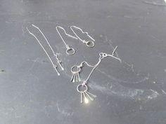 pull through earrings, threader earrings sterling silver, chain earrings, thread earrings, ear thread