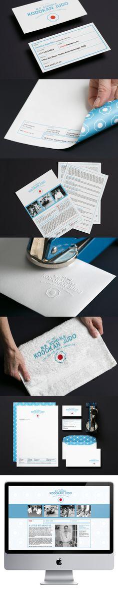 Schools Kodokan Judo stationery by Creating a Storm Graphic Design Studios, Logo Design, Corporate Stationary, Judo, Business Card Logo, Schools, Packaging Design, Stationery, Branding