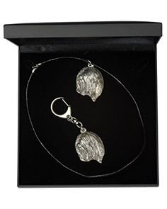 NEW, Lhasa Apso, dog keyring and necklace in casket, DELUXE set, limited edition, ArtDog ** Check this awesome product by going to the link at the image.