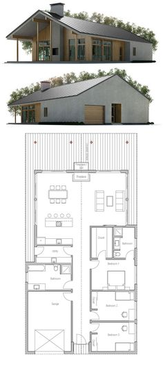 Container House - Container House - Home Plan - Who Else Wants Simple Step-By-Step Plans To Design And Build A Container Home From Scratch? - Who Else Wants Simple Step-By-Step Plans To Design And Build A Container Home From Scratch? Barn House Plans, Dream House Plans, Modern House Plans, Small House Plans, House Floor Plans, Simple Home Plans, Building A Container Home, Container House Plans, Container Houses