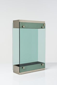 Anonymous; Glass and Metal Umbrella Stand by Fontana Arte, 1950s.