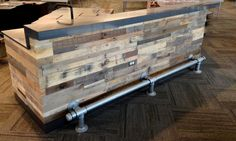 Wood Pallet Bar Reclaimed pallet wall