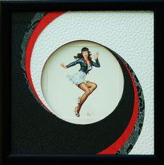 Envolée de courbes Années 50 Art And Craft, Diy And Crafts, Paper Crafts, Creation Art, Card Patterns, Frame It, Little Darlings, Art Plastique, Scrapbook Pages