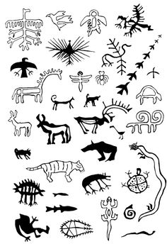 Animal figures from various Siberian and Sámi