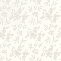 Thalia White Floral Wallpaper