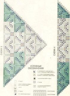 Lace Knitting Stitches, Lace Knitting Patterns, Knitting Charts, Knitted Shawls, Crochet Shawl, Knit Crochet, Crochet Pattern, Peacock Crochet, Fillet Crochet