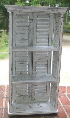 Hey, I found this really awesome Etsy listing at https://www.etsy.com/listing/201983553/shutter-bookcase-shelves-distressed