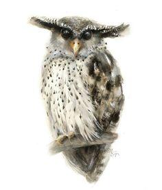 Owl watercolor - Owl Painting - Bird Art Print - Home Wall Decor - Bird Watercolor Illustration - Forest Eagle Owl Watercolor Print Bird Illustration, Watercolor Illustration, Owl Wall Art, Owl Watercolor, Wildlife Decor, Bird Art, Fine Art Paper, Art Prints, Eagle
