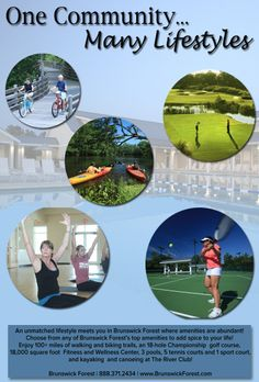 Top-notch amenities and unmatched lifestyle options meet you Brunswick Forest! Find your ideal lifestyle today! Wellness Center, Bike Trails, Meet You, Infographics, Finding Yourself, Community, Lifestyle, Top, Infographic