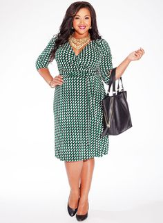 Dominique Dress in Emerald Escape. 50% Off Fall Plus Size Styles at IGIGI! Shop Friday through Monday for HALF OFF or More! http://www.igigi.com/fall-sale/