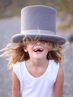 top hat and smile