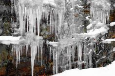 icicles frozen together