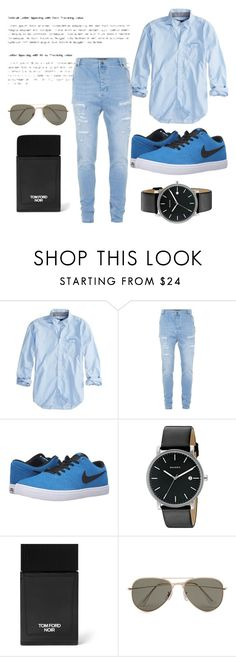 """""""Tom Ford Noin"""" by jasmine077 ❤ liked on Polyvore featuring American Eagle Outfitters, Topman, NIKE, Skagen, Tom Ford, SELECTED, men's fashion and menswear"""