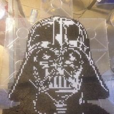 Darth Vader - Star Wars perler pixel art by Daniel Gustafsson