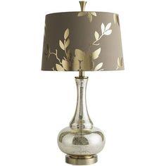 Gold Leaf Glass Lamp