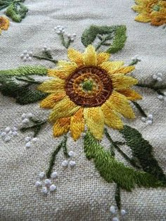 Vintage Hand Embroidered Linen Cushion Cover