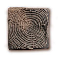 """Handmade Ceramic Tile - Wood Texture - 3.2""""x3.2"""". $7.00, via Etsy."""