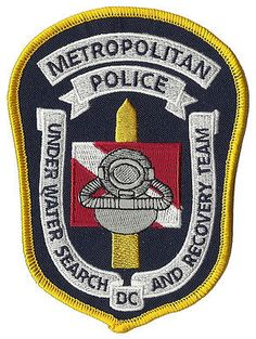 """Metropolitan Police Under Water Search And Recovery Team D.C. Patch 5"""" x 3 5/8"""""""
