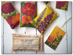 vintage flower seeds