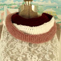 Simple Handmade Crochet Cowl Scarf Collar by WildHeartYarnings