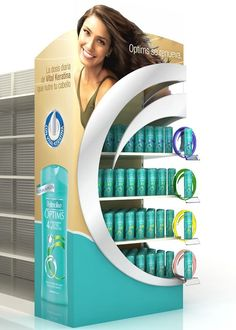 Palmolive Retail by Daniela Olivares, via Behance Pos Display, Wine Display, Counter Display, Store Displays, Display Design, Booth Design, Banner Design, Pop Design, Stand Design