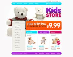 Kids Store osCommerce Templates by Mercury Ecommerce Website Design, Website Design Services, Entertainment Online, Bath Toys, Kids Store, Wildlife Art, Toy Sale, Online Shopping Stores, Doll Toys