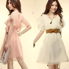 7,50 incl. shipping   butterfly sleeve Chiffon  crop top and skirt fashion clothes women 2013-in Dresses from Apparel & Accessories on Aliexpress.com