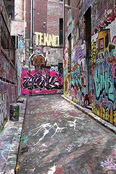 344 Graffiti Alley Backdrop