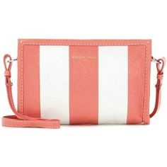 Balenciaga Bazar Leather Clutch (58.970 RUB) ❤ liked on Polyvore featuring bags, handbags, clutches, pink, leather handbags, genuine leather purse, white clutches, leather clutches and balenciaga handbags
