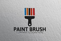 Paint Brush Logo by josuf on Creative Market