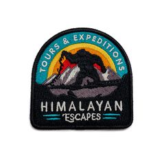 Inspired by the travel agency famous for taking you on an expedition through the forbidden mountain, this patch deserves a spot on your safari vest. This 100% embroidered, vintage-style safari patch i