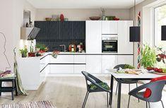 Vito, Küchen zum Leben - Leiner Vito, Chrome, Black And White, Modern, Table, Furniture, Home Decor, Custom Kitchens, Ad Home