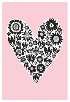 It&Apos;S all about hearts ♡ printable hearts картинки y сердце Doodles Zentangles, Doodle Art Journals, Project Life Cards, Heart Art, Journal Cards, Pattern Wallpaper, Graphic, Cute Wallpapers, Illustrations Posters