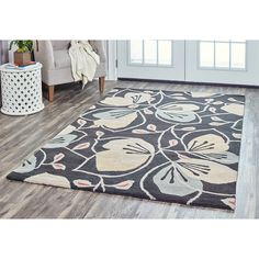 Arden Loft Hand-tufted Lewis Manor Collection Area Rug (8' x 10') (Charcoal)
