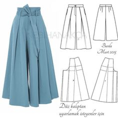 Sewing Pants Pattern Ideas 36 Ideas For 2019 Dress Sewing Patterns, Sewing Patterns Free, Sewing Tutorials, Clothing Patterns, Free Pattern, Free Sewing, Skirt Patterns, Sewing Projects, Sewing Tips