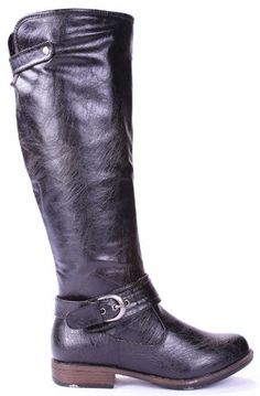 9a77537f31e JJF Shoes Mag08 Black Extra Soft FLeather Equestrian Knee High Furlined  Buckle Riding Boots85 **