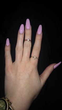 I'm obsessed with my Square/oval nails #nails #oval #sqaure #lightpink