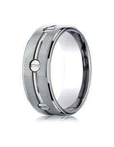 CAYENNE Titanium Screw Wedding Band for Men by Benchmark | Wedding Bands HQ