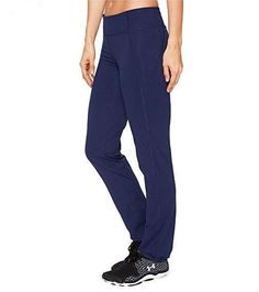8f2f64deb984b Details about Under Armour Women Mirror Straight Leg Studio Navy Blue Pants  S 1277387-942