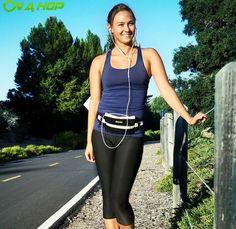 On a Hop running belt