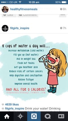 Water is one of the most important parts of your diet.