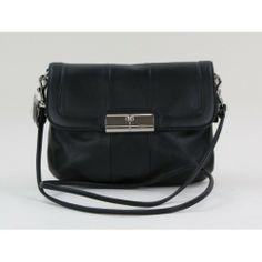Coach Black Leather Kristen Crossbody Bag  moshposh 28ae7431036