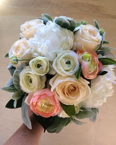 Blush wedding bouquet, Blush bridal bouquet, Peach wedding bouquet, Peach bridal bouquet, Peony bouquet, Wedding bouquet, Bridal bouquet Silk Wedding Bouquets, Blush Bridal, Peonies Bouquet, Floral Wreath, Peach, Wreaths, Rose, Flowers, Plants