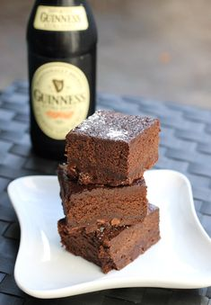 Fudgy Guinness Brownies - very moist, so if you have leftovers (HAH!) be sure and refrigerate them.