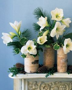 Add Glamour and Rustic Vibe With Tree Stump Vases