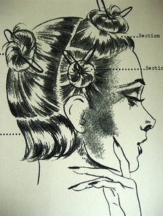 sectioning hair for vintage hair styles