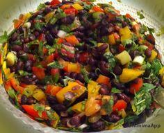 חיים וטעים – אוכל ובריאות | סלט צבעוני של שעועית שחורה