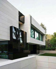 Unique Modern House Exterior Design Ideas You Will Amazed Architecture Design, Architecture Antique, Facade Design, Beautiful Architecture, Residential Architecture, Contemporary Architecture, Exterior Design, Building Architecture, Escalier Design