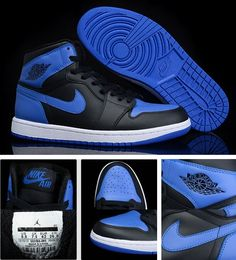 Air Jordan 1 Blue/Black(Top Layer Leather)★★★Sz -US 7/8/8.5/9.5/10-11