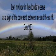 Rainbow & Bible verse. Facebook icon size